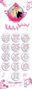 Plan de tables de mariage original placement thème musique note rose chant chansons
