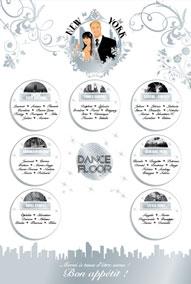 Plan de tables de mariage original placement thème voyage New-york quartiers bronx Manhattan Chinatown