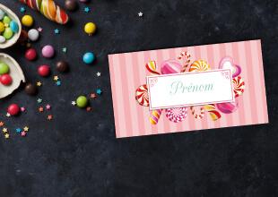 Mariage - nominette ou marque-place bonbons original - gourmandise - chic vintage et romantique bonbon candybar et cupcake romantique vintage poudré pois