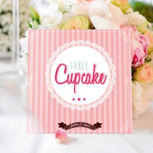 nom de table carton mariage original gourmandise chocolat bonbon candybar et cupcake romantique vintage poudré pois - chic vintage et romantique