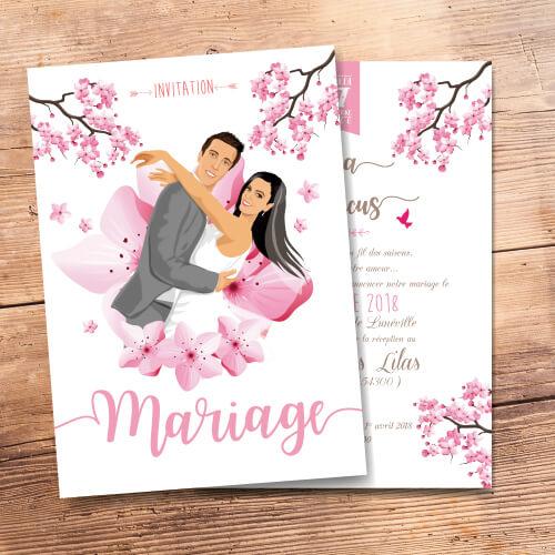 mariage th me fleurs faire part original par studio postscriptum. Black Bedroom Furniture Sets. Home Design Ideas