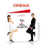 Faire-part de mariage original cinéma dessin Mr & Mrs smith en dessin d'après vos photos : faire-part originaux affiche
