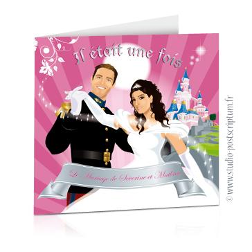faire part de mariage original princesse et conte de f es. Black Bedroom Furniture Sets. Home Design Ideas