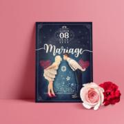 Surprenez vos invités avec un faire-part de mariage original, à votre image ! Prenez la pose qui vous plaira, nous nous chargeons de vous créer un faire-part unique dans une ambiance bohème, vintage rustique et champêtre.