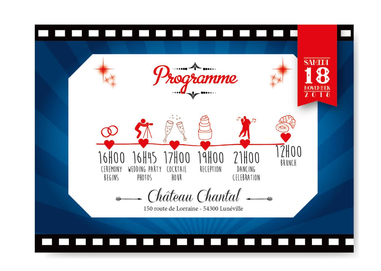 Mariage Cinema Timeline Programme Coupon Studio Postscriptum