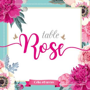Nom de table mariage original thème fleurs nature roses bleu poudré vintage et graphique. Carton table bohème chic vintage et romantique