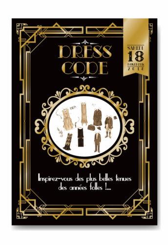 mariage Gatsby original vintage et rétro chic noir et or - coupon dress code. Chic des années folles – Charleston années 20