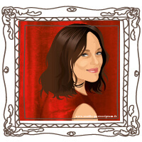 Marion Cotillard original vector portrait © studio-postscriptum.fr